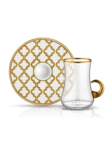Koleksiyon Dervısh Viyana Altın 6'Lı Kulplu Çay Seti Renkli